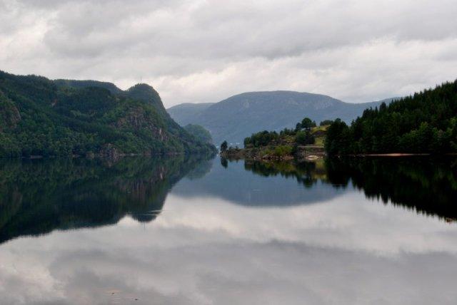 Bild vom See Lyngna Vatn