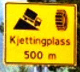 Schild Norwegen