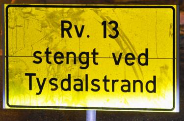 Straße geschlossen bei oder bis