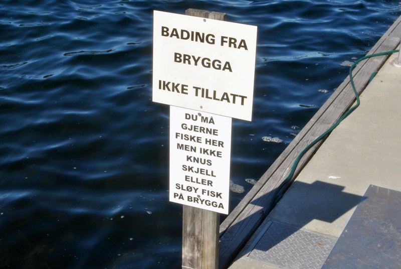 Schild in Norwegen